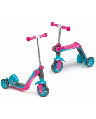 Paspirtukas/dviratis 2in1 -rožinis