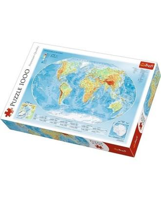 1000 elementów Mapa fizyczna świata