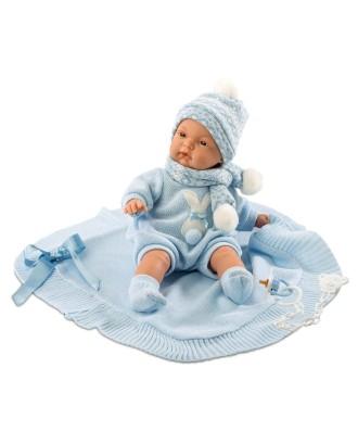 Joelio lėlė verkianti su mėlyna antklode