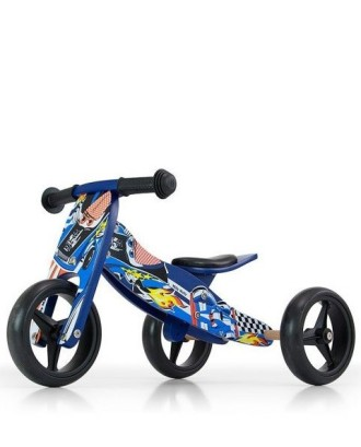 Jake Cars dviratis/triratis-mėlynas