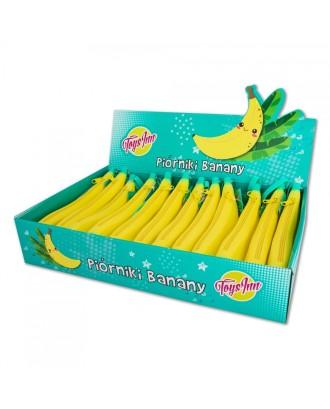 Bananinis silikoninis pieštukų dėklas - rodyti 12 vienetų
