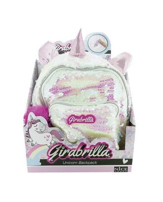 Plecak Girabrilla Jednorożec biały