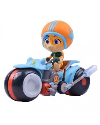 """Lampo"" figūrėlė ant motociklo"