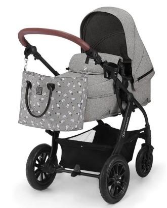 """3-in-1 """"XMoov Grey"""" daugiafunkcinis vežimėlis-pilkas"""
