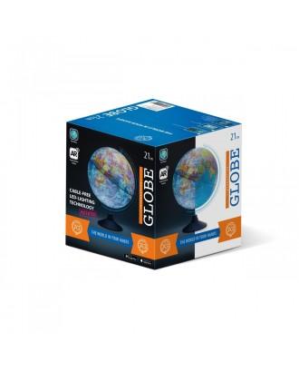 Globus 21 cm z mapa fizyczna i aplikacją