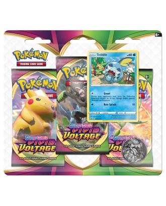 """""""Pokemon TCG Vivid Voltage 3Pack Blister Sobble"""" kortelės"""