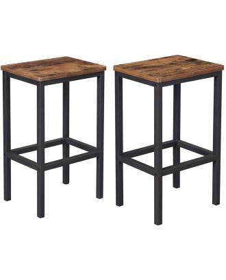 2 virtuvės baro kėdžių komplektas 40x30x65 cm