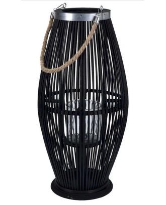 Bambuko žibintas 29x72 cm su stikliniu įdėklu