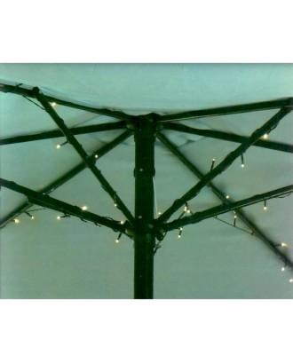 Skėčio apšvietimas 72 LED saulės lempos po skėčiu