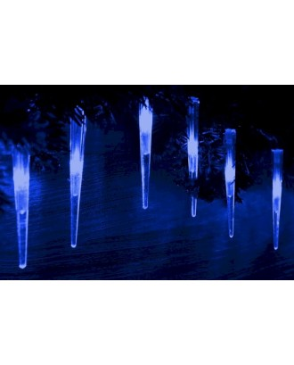 Kalėdinės lemputės 60 LED 9,7 cm varveklių formos, mėlynos 7,8 m