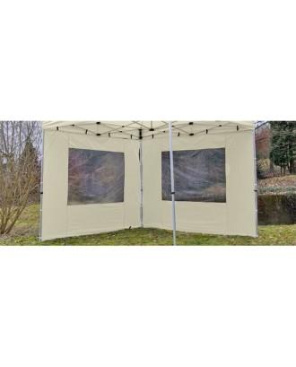 2 paviljonų sienos 296/215 cm, su langu