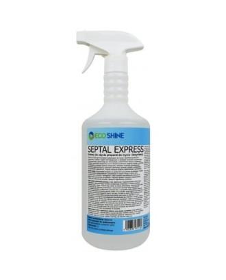Baktericidinis skystis paviršiams valyti ir greitai dezinfekuoti. 1 litras SEPTAL EXPRESS