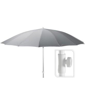 SHANGHAI Pilkas paplūdimio skėtis