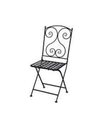 Metalinė sulankstoma sodo kėdė 90 cm