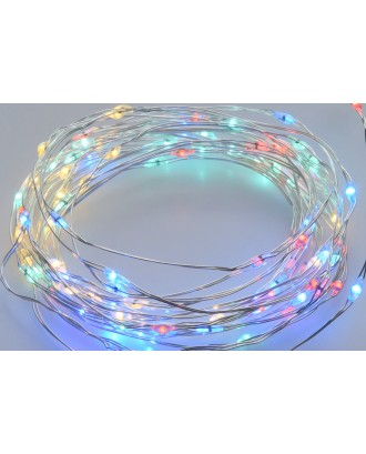 200 LED lempučių girlianda, spalvotos