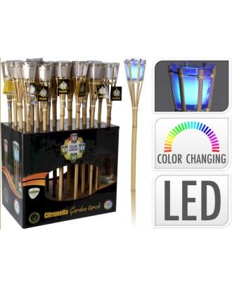 Bambuko LED žibintai su kvapnia žvake
