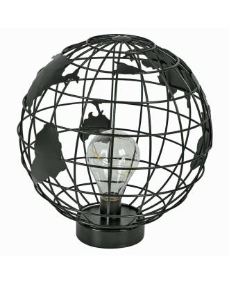 Lampa Globus metal czarna 27cm LED