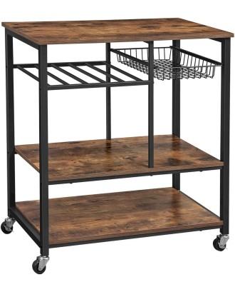 Virtuvės vežimėlis, baras ant ratų, stovas ant ratų