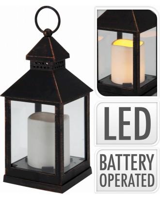 žibintas su LED žvake