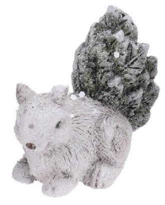 Dekoratyvinė voverė su blizgučiais 9 cm