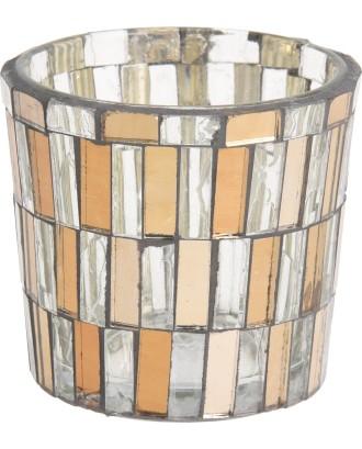 Dekoratyvinė stiklinė žvakidė