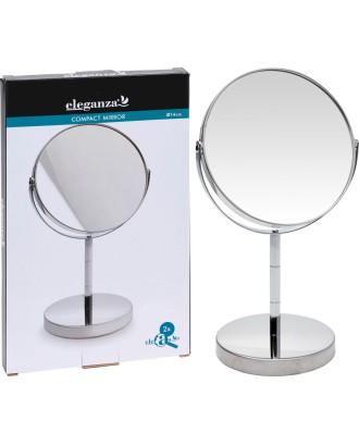 Kosmetinis veidrodis ant stovo, dvipusis