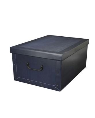 Laikymo dėžutė su dangteliu ir rankenomis 51x37x24