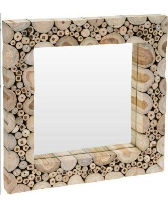 Medinis vonios veidrodis 50x50cm
