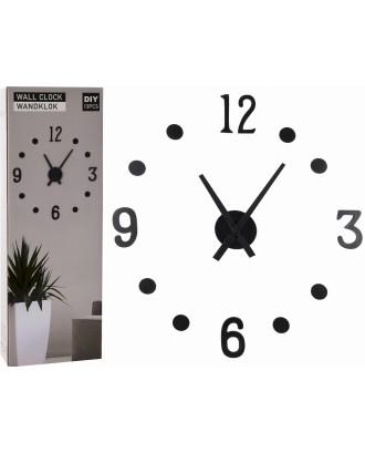Sieninis laikrodis su juoda rodyklė 40 cm