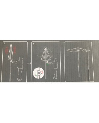 Sodo skėtis 2x3m su rankena