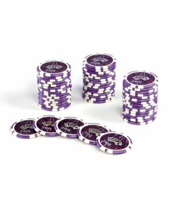 50 vnt. pokerio žetonai, kurių nominali vertė 500