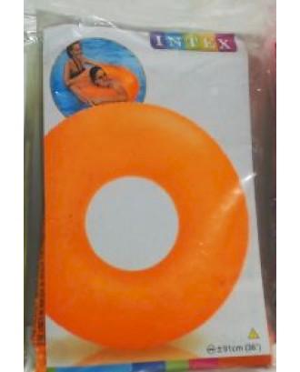 Pripučiamas ratas Neon Orange 91 cm Intex