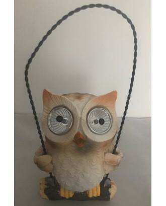 Dekoratyvinė saulės lempa Owl Orange LED