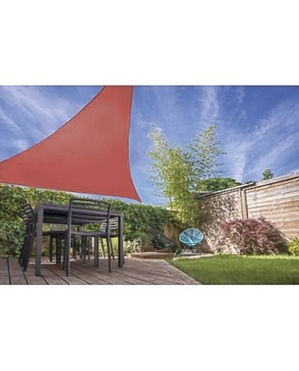 Trikampė sodo saulės markizė 5x5x5m