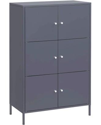 Biuro metalinė komoda su 6 durimis 65x36x105,2 cm