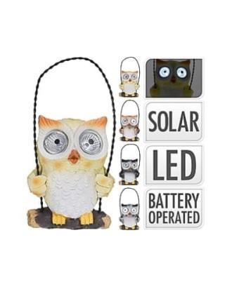 "Dekoratyvinė saulės lempa ""Owl ""LED"