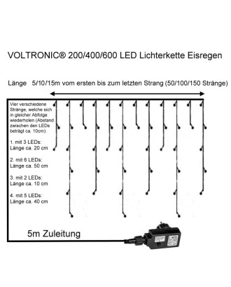 400 LED lempučių girlianda