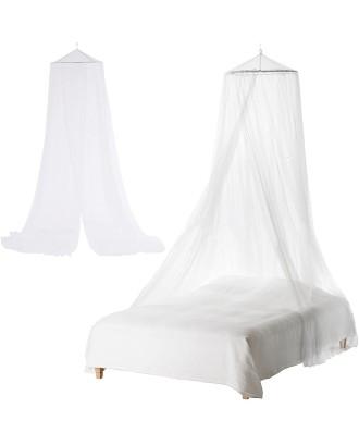 Duża moskitiera baldachim nad łóżko siatka owady