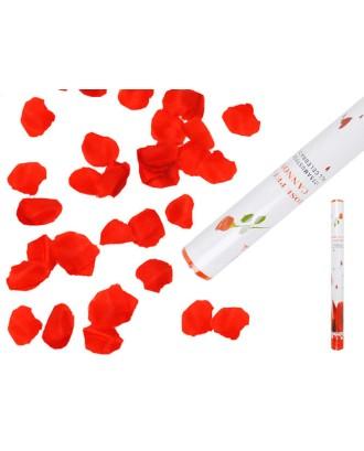 Pop vamzdis su rožių žiedlapiais