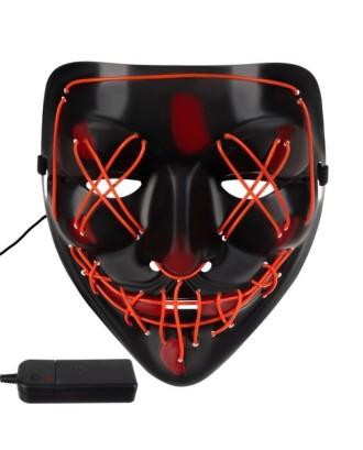 LED apšviesta kaukė