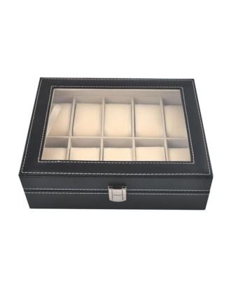 Laikrodžių ir juvelyrinių dirbinių dėklas • 10 skyrių su nuimamais įdėklais 20 x 25 x 8 cm • 1,1 kg • # 1369