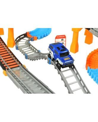 RACE TRACK • 2 in 1 • dviejų lygių viaduko ir lenktynių trąsos • 192 elementai • 74 x 86 x 31 cm • 2902