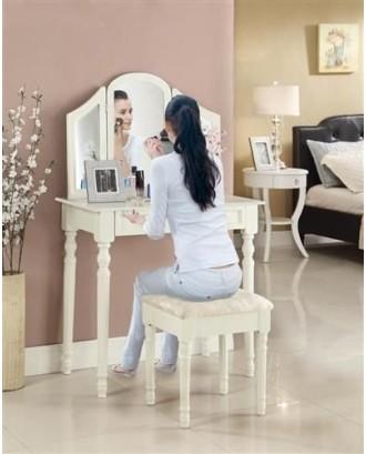 Tualetinis staliukas su kėde ir veidrodžiu - DT3765