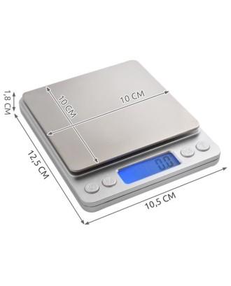 Aukšto tikslumo elektroninės virtuvės svarstyklės 0,1 g 2 kg # 3465