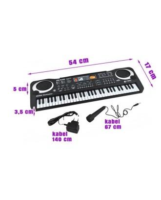 KEYBOARD • ELEKTRONINIAI VARGONAI • 61 klavišas, mikrofonas• 54 x 17 x 5 cm • # 4687