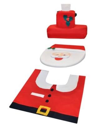 Kalėdinis vonios kambario komplektas 3 dalys