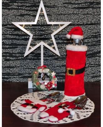 Kalėdinis butelio papuošimas # 4796