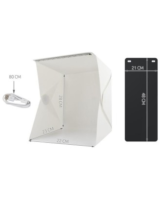 Foto palapinė Foto studija Photo Box sulankstoma,su LED apšvietimu,2 fonai # 5059