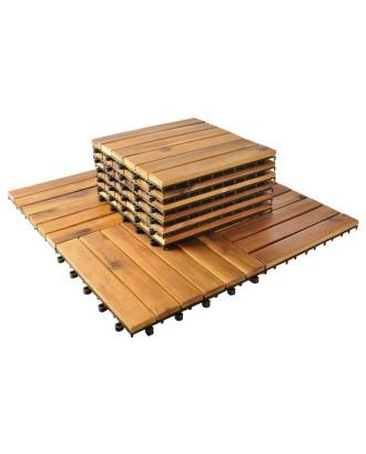 10 karštu mediniu plyteliu plyteliu plyteliu 30x30cm balkono rinkinys # 5100