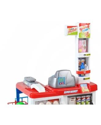 """Supermarket"" žaidimo rinkinys Light Sound Scanner cash register 6747"